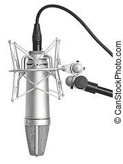 microphone - classic microphone isolated on a white...