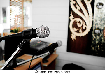 Microphone in room