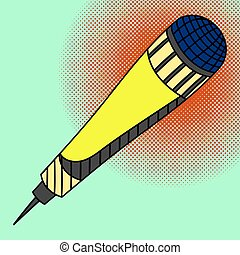 Microphone Pop art vector