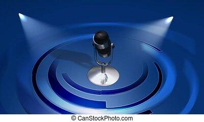 microphone, projecteurs, sous