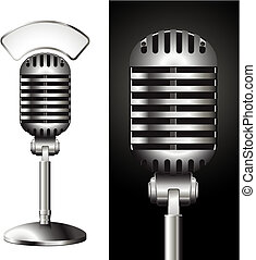 microphone - realistic illustration of a studio mic