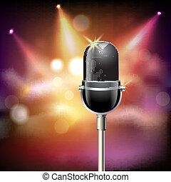 microphone, retro, fond