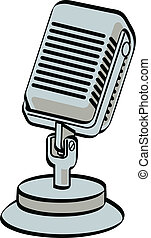 Microphone - Retro, vintage or antique style radio or...