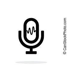 Microphone signal icon on white background. Vector...
