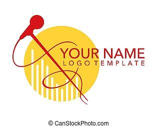 logo template for leading, singer, event, karaoke