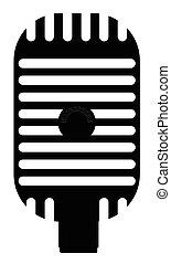 microphone, silhouette, classique