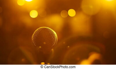 Stage view of microphone. Shallow DOF.