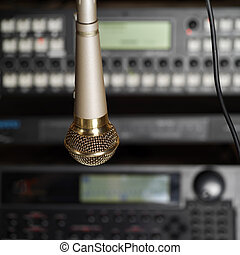 microphone, studio
