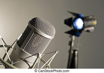 microphone, studio.