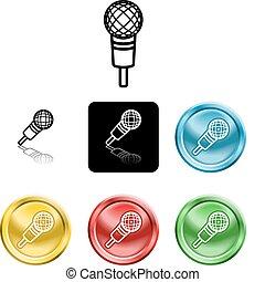 microphone, symbole, icône