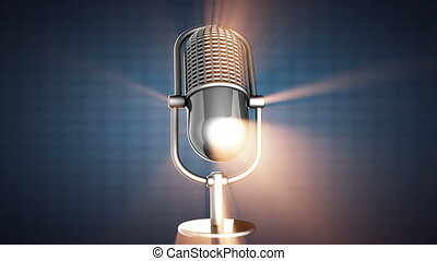 microphone, tourner, retro, boucle