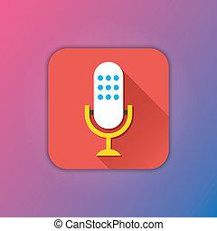 microphone, vecteur, icône