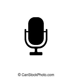 Microphone vector icon isolated on white