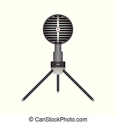Microphone vector illustration isolated on white background