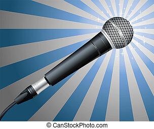 microphone., vektor, ábra