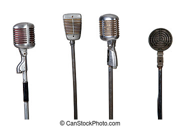 microphone, vieux, collection
