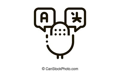 Microphone Voice Device Icon Animation