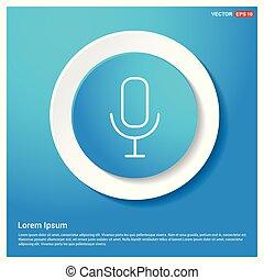 microphone, voix, icône