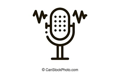 Microphone Waves Icon Animation