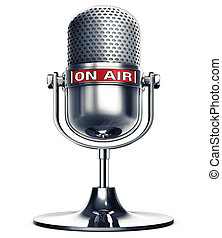 on air - microphone with a on air icon