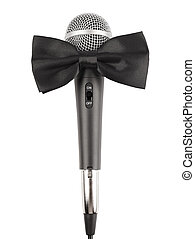 Microphone with bow tie