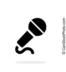 Microphone with cable icon on white background. Vector ...