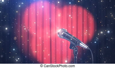 Microphone with Magic Particles