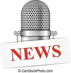 Microphone with News