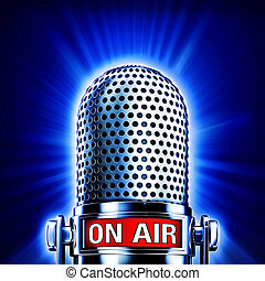 microphone with on air icon - high resolution rendering of a...