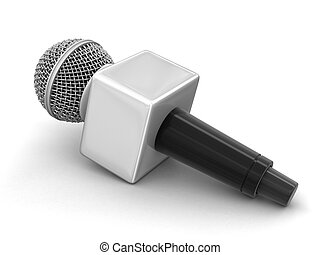 Microphone.Image with clipping path