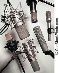 Microphones - A series of recording studio microphones. ...