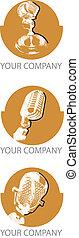 microphones, logo