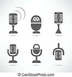 microphones symbol collection