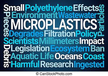 microplastics, woord, wolk