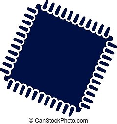 Microprocessor chip cpu