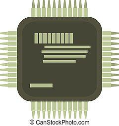 Microprocessor icon, cartoon style - Microprocessor icon....