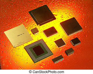 Microprocessors - Microprocessor collage against effective...
