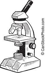 microscópio, esboço
