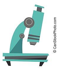 microscópio, vetorial, caricatura, illustration.