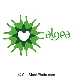 Microscobic Algea Icon and Logo Design