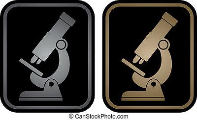 microscope, emblème