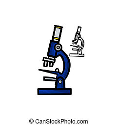 Microscope - Vector illustration : Microscope on a white...