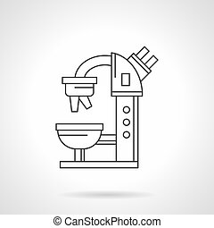 Microscope flat line vector icon