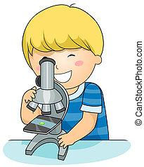 microscope, gosse