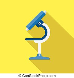 Microscope icon. Flat Design.