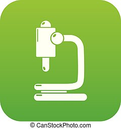 Microscope icon green vector