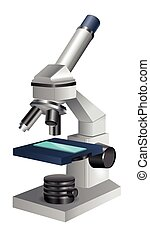 Microscope Icon Isolated on White