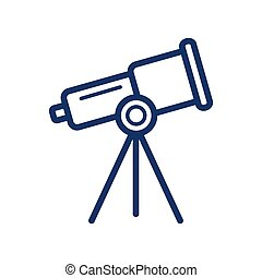 Microscope icon on white background, vector illustration