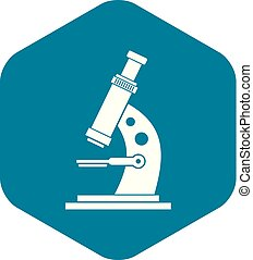 Microscope icon, simple style