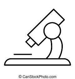microscope icon vector isolated on white. Flat outline style. Eps 10